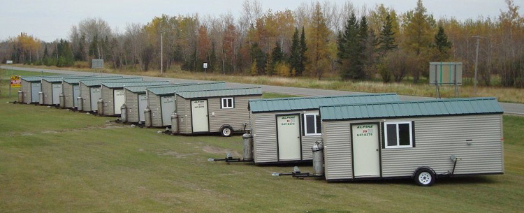 Red Lake MN Ice Fishing Houses for Rent - Ice Fishing Report